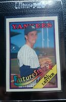1988 TOPPS TIFFANY #18 AL LEITER ROOKIE CARD RC NEW YORK YANKEES MINT