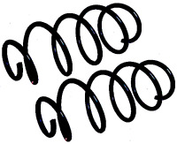 2X Front Coil Spring Skoda Rapid Nh3 1.2 1.4 2015-2017