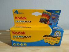 4 Rolls Kodak 24 exposure UltraMax 400 Color Print 35mm Film 4 pack Sealed exp
