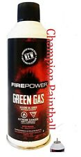 Firepower Green Gas Can for Airsoft Guns Pistols Rifles Sniper Silicone 8oz