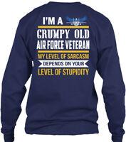 One-of-a-kind Air Force Veteran - I'm A Grumpy Gildan Long Sleeve Tee T-Shirt