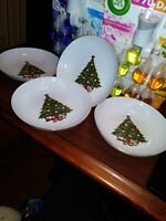 Jamestown China Christmas Tree 4 Soup/Cereal Bowls CHRISTMAS TREE FREE SHIPPING