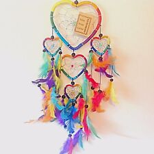 DREAM CATCHER GIRLS BOYS RAINBOW CHAKRA DREAMCATCHER MULTI COLOURED HEARTS