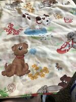 Pound Puppies Twin Sheet Set: Vintage Flat And Fitted 1985