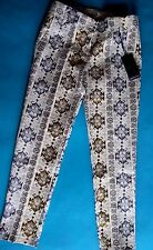 "Pantaloni Donna Tg. 40/42,mod. ""CAPRI"",Jacquard,NUOVI,NO Desigual,Tracciabile!!!"
