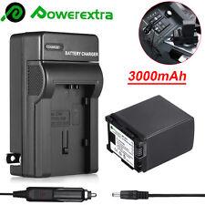 3000mAh BP-827 Battery+Charger For Canon VIXIA HFM30 HFM31 HFM32 HFM40 HFM300