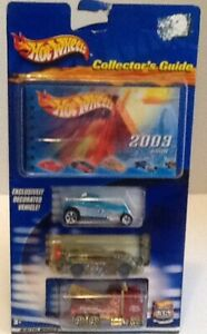 Hot Wheels Collectors Guide With 3 Cars , Hot Wheels Highway 35 th Anniversary.