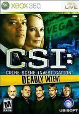 BRAND NEW SEALED CSI: Crime Scene Investigation - Deadly Intent (Xbox 360, 2009)
