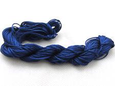 Navy Blue 28M/roll 1mm Chinese Knotting Nylon Thread Cord Beading  Bracelet Rope