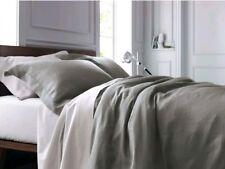 Fieldcrest Washed Linen Gray ~ Queen ~ Duvet Cover 3pc  Set ~ Skyline Grey