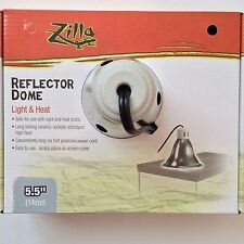 """Zilla Reptile Silver Dome Heat Light 5.5"""" Fixture Lamp Max Bulb Size 60 watts"""