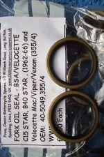 Fork Oil Seals. BSA.C15 estrella, B40 Estrella. 40-5049. Velocette Mac/Viper/Veneno 355/4