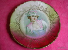 "Unmarked (Pheasant Women Portrait) 9 5/8"" HANGING PLATE"