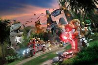 "Lego Jurassic World  Stretched  Canvas Art  Print    20"" x 14"""