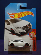 2017 Hot Wheels '16 HONDA CIVIC TYPE R, THEN AND NOW Series 1/10 Long Card.