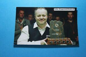 John Higgins MBE (Snooker - 4 x World Champion) Signed Photo Paper