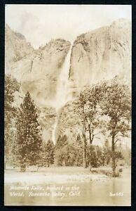US RPPC Yosemite Falls Highest in the World Yosemite Valley California