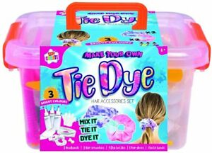Kids Create Make Your Own Tie Dye Hair Accessories In Carry Case Activty Set