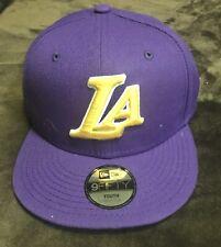 New Era 9Fifty Cap NBA Los Angeles Lakers Hat Youth Team Snapback Purple #3450