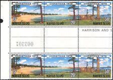 Norfolk Island 1979 Christmas/Greetings/Trees/Beach 3v s-t stp gutter pr (b210a)