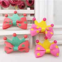5Pcs Kids Girls Crown Style Hairpin Hair Clips Princess Barrette Random Color FG