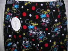 NEW womens sleep Pants SIZE 1x 16/18 fleece black Disney Mickey Minnie MOUSE