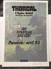 Affiche ex libris Rosinski Thorgal 35x25 cm non signée 1992