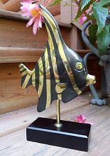 VTG Brass Angel Fish Art Sculptur Rosenthal Netter Korea Limited Edition 11/388