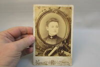 Vintage Antique Photo Cabinet Card Young Woman Lady Saint Peter Minnesota w/name