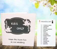 Childrens Kids Wedding Activity Pack Book Favour 6x6inch Ab16