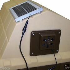 Solar Powered Dog house Exhaust Fan whisper-quiet Vent easy to install Brand New