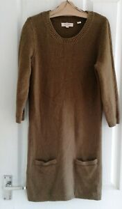 Fatface Sage Green Jumper Dress, Size 12, in Excellent condition,