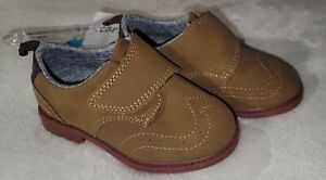 NWT Toddler Boy CARTER's Oxford Shoes Size 6 Soft 'Suede Leather's Brown Dressy