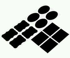 36 x Blackboard/Chalkboard Frame/Rectangle/Oval Stickers/Labels Erasable Parties