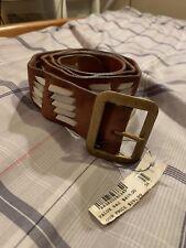 Ralph Lauren Men's Genuine Leather Belt Size 38 Navajo Southwest Indian Weave