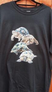 Tortoise T-Shirt Adult sizes. Reptile FREE POST