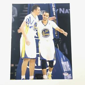 David Lee signed 11x14 photo PSA/DNA Golden State Warriors Autographed