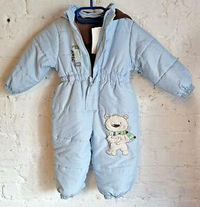 N-Joy Schneeanzug Overall Baby Kaputze hellblau Gr. 86 / 18 Mon