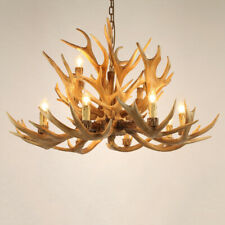 2-Tier 12 -Light Large Chandelier Living Room Resin Antler Candle Pendant Lights