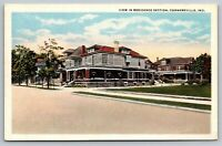 Connersville Indiana~Big Homes~Residential Neighborhood~1920s Postcard