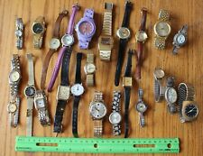 24 Watch Lot of Vintage Wristwatch PARTS Seiko Benrus Lorus Caravelle Peugeot