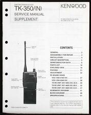 KENWOOD TK-350N SERVICE MANUAL SUPPLEMENT  NO STINKING PDF/CD