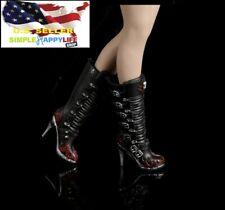 "1/6 sexy Motorcycle heels boots for phicen verycool kumik 12"" female figure❶USA❶"