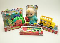 Cocomelon Doll School Bus Musical Doctor Check Up Set & Keyboard Toy JJ Dr NEW