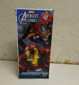 """Marvel Avengers Assemble Lenticular 3D 48 Piece Puzzle NlB 12"""" x 9"""""""