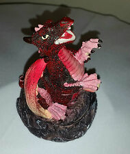 Smoking dragon incense cone burner/holder Red