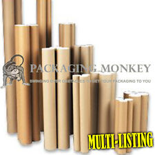 STRONG POSTAL POSTER TUBES + END CAPS - ALL SIZES A0 A1 A2 A3 A4 x 45mm