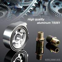 Silver Racing Sport JDM Aluminum Oil / Gauge Filter Sandwich Adapter Plate Kit