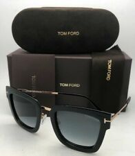 New TOM FORD Sunglasses LARA TF 573 01B 52-22 Black & Gold Frame w/Grey Gradient