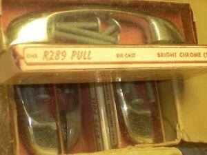 Mid century Modern Drawer Pulls (10) TEN R289 Die Cast -Bright Chrome NO RESERVE
